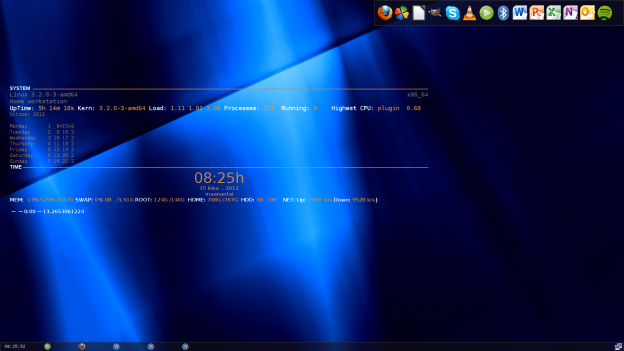 linux screenshot, screenshot from linux, linux conky, linux tint2