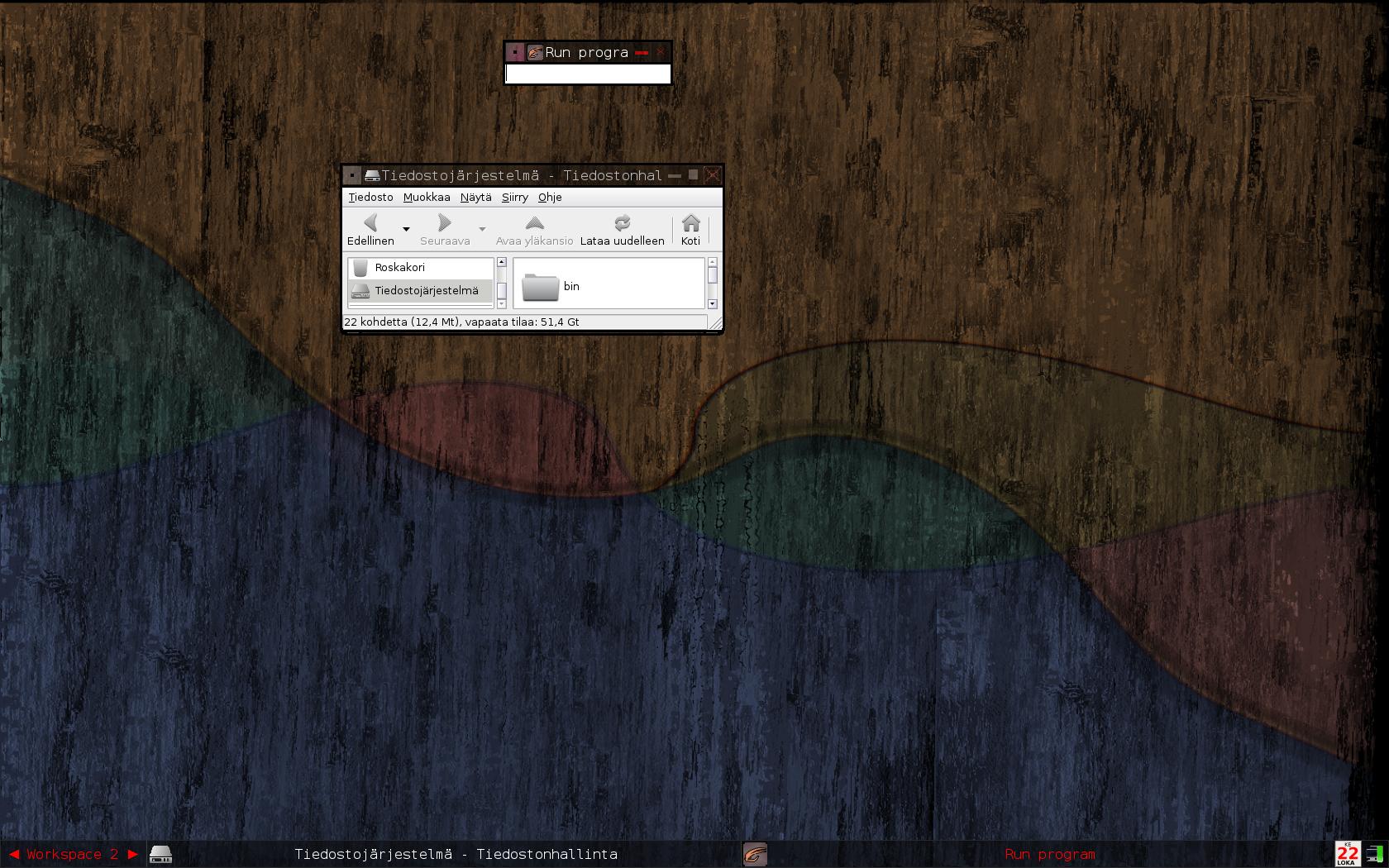 Showcasing window frames. Run dialog is selected.