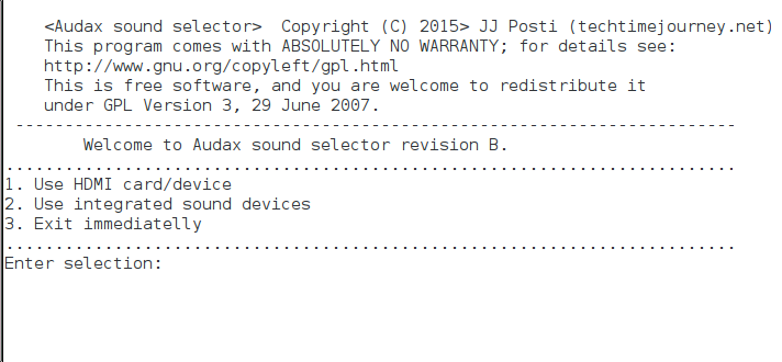 Audax uses Alsa and comes with a sound selection program of its own, which is designed with usability in mind. You can find Audax sound selector within Sysmanager2 Gui.