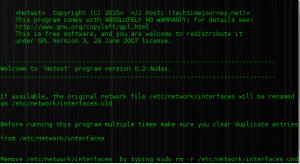 network setup, linux setup network interfaces, linux networking