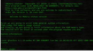 memory status linux