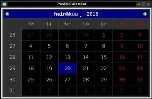 python calendar, linux calendar, calendar for linux, pyqt calendar