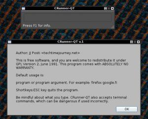 runner dialog, linux programs gmrun alternatives