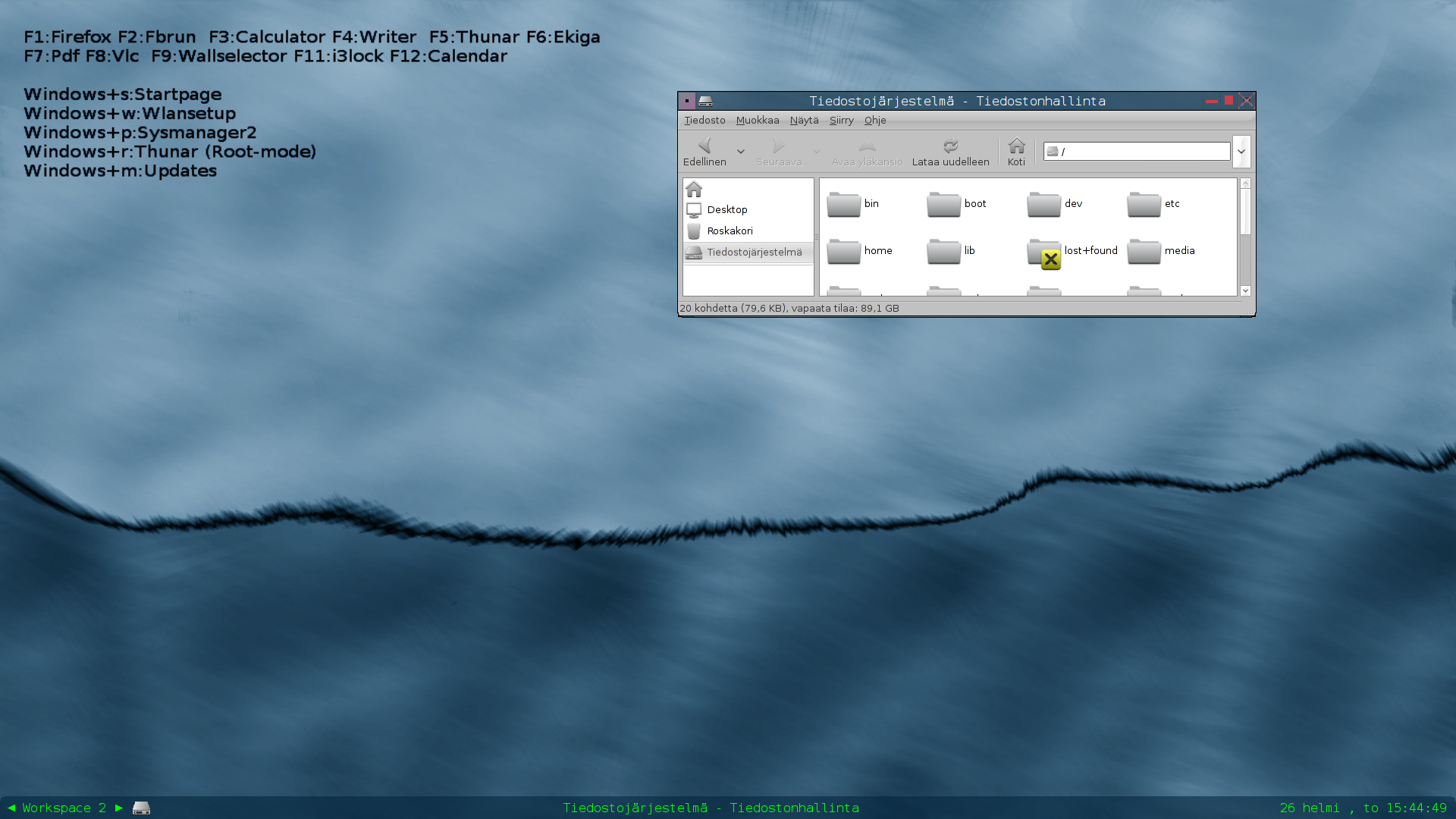 Audax 0.1.4 desktop with an alternative outlook.