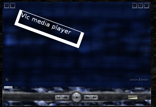 Vlc default interface with Voyager skin.