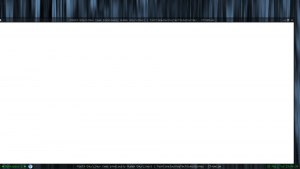 When Chromium is brought back from the minimized state it might show up like this.