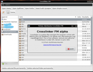 Crosslinker Fm will be the new file manager