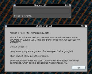 runner dialog, linux programs gmrun alternatives