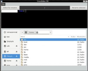 Crosslinker FM, filemanager, python filemanager